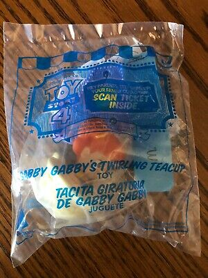 2019 McDonald's Happy Meal Toy Story 4 Gabby Gabby's Twirling Teacup #10 New