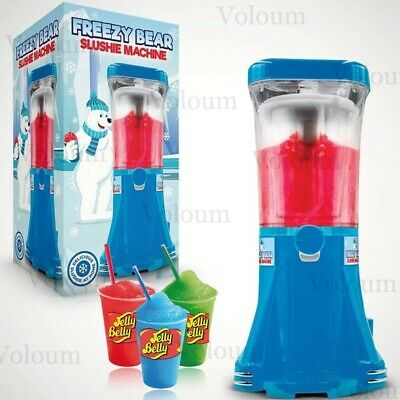 Slush Puppie Machine Freezy Bear Slushie Frozen Ice Drink Maker JellyBelly Syrup