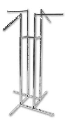 Clothing Rack - 4 Way - Sloping Arms + Straight Arms-Chrome