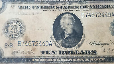 Series 1914 New York $10 Blue Seal Federal Reserve Note
