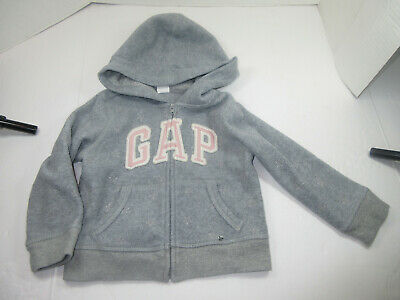 Girls Baby Gap 2 Year Old Toddler Star Grey Zipped Sweater  Pre-Owned