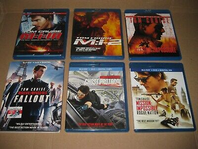 Mission Impossible (Tom Cruise) Blu Ray Lot