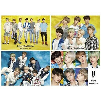 Kpop BTS Light/Boy With Luv Wall Poster JUNGKOOK V Collective Hanging Painting