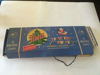 One Vintage Set of 15 Timco General electric Lighting Outfit Christmas Lighting