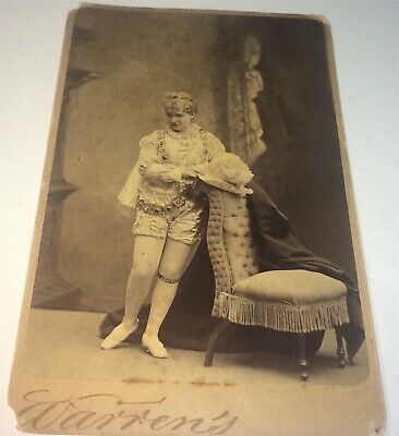 Rare Antique Victorian American Fashion Actress Eliza Weathersby Cabinet Photo!