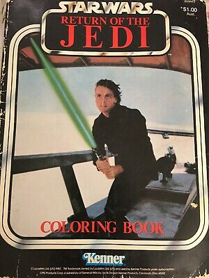 Star Wars Vintage Colouring In Book 1983