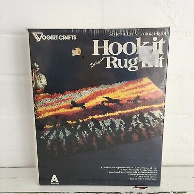 VOGART Vintage Retro Craft UNUSED Rug Kit Crochet Hook it