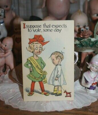 Rare NOS 1910s Barton & Spooner Suffrage Suffragette Votes for Women Postcard