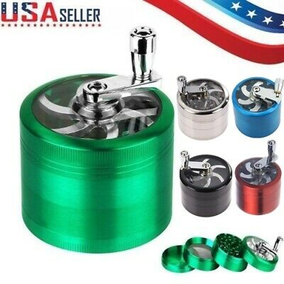 4 Layer Metal Tobacco Crusher Smoke Herbal Herb Grinder Hand Muller Alloy Green