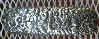 Antique Sterling Silver Repousse Clothing Brush