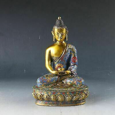 Chinese Cloisonne Handwork Carved Buddhism Statue CC0217