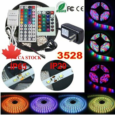 LED Strip Lights 3528 5M 300 LED Flexible Tape IP65/20 Lamps IR Controller Power