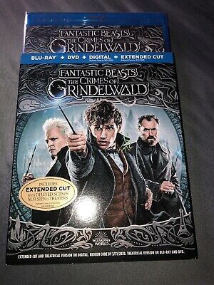 Fantastic Beasts The Crimes of Grindelwald Bluray & DVD new only opened for cod