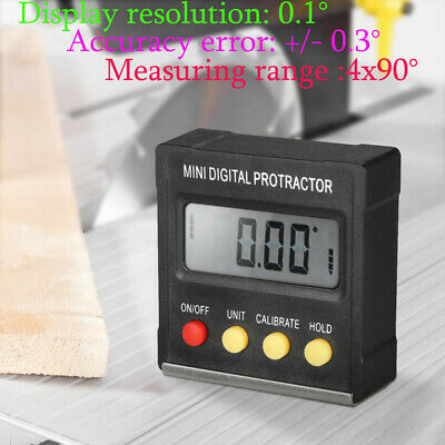 US STOCK LCD Digital Inclinometer Level Box Protractor Bevel Gauge Accuracy 0.3°
