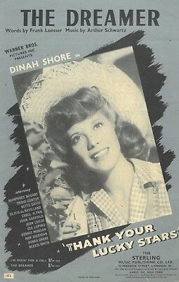 Dinah Shore - The Dreamer - Aus Film Thank Your Lucky Star - 1953 Musiknote
