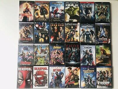 24 Marvel Lot Movie DVD Avengers 123 Thor Ant-man Wasp Captain Collection 1 2 3