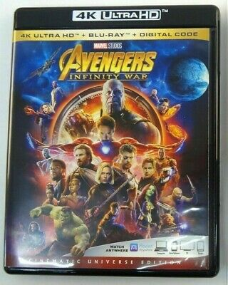 Avengers Infinity War 4K Uhd + Blu-Ray No Digital Marvel Free Shipping On All