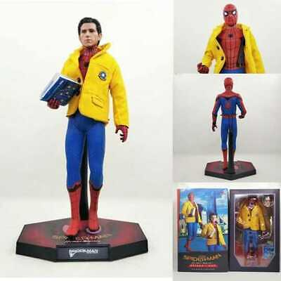 Crazy Toys Avengers 1/6 Home Coming Spider Man With School Jacket  Statue Figure