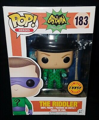 Funko POP! Heroes BATMAN Classic TV Series *THE RIDDLER* #183 CHASE Exclusive