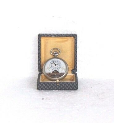 8 Days Pocket Watch with Porcelain Dial Vintage Swiss Made Collectible Y-15