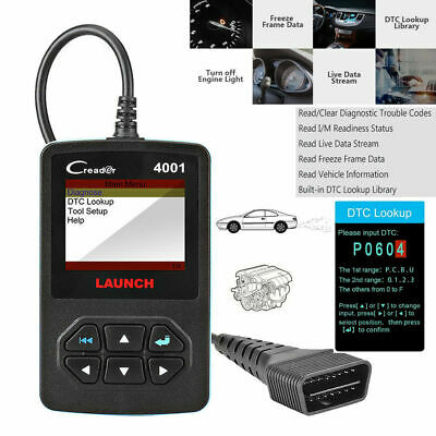 Launch OBD Scanner Car Fault Code Reader Auto Car EOBD Engine Diagnostic Tool UK