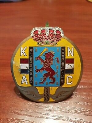 Badge Knac Kon Nederlandsche Automobiel Club Classic Car Grille