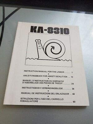 Instruction Manual for Knitting Machine Linker - Model KA-8310