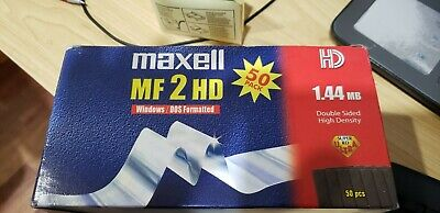 "NEW 50x Maxell Disks MF 2HD MICRO Floppy Disk 3.5"" 1.44 MB"