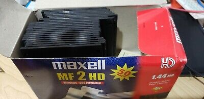 "Maxell MF 2 HD 3.5"" Floppy Disks 1.44 MB - Pack of 22 - Black"