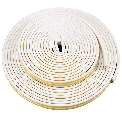 10M 20M Draught Draft Excluder Self Adhesive Rubber Door Window Seal Strip Roll