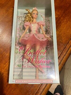 "Barbie Doll ""Ballet Wishes 2015"" Blonde  sought after by collectors ""Pink Label"""