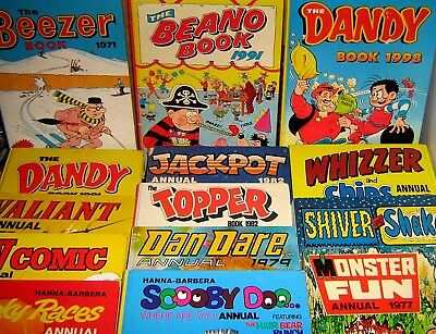 VINTAGE ANNUALS - DANDY -  BEANO and OTHERS 1930/90 - click SELECT to browse