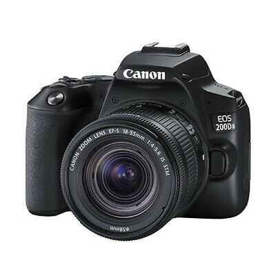 Canon EOS 200D II + 18-55mm IS STM Multi Black Lens Kit ship from EU Nuevo