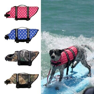 Pet Dog Save Life Jacket Clothes for Surfing Saver Large Dog Clothes Swimwear US
