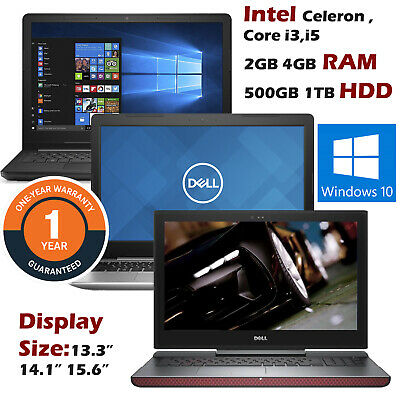 Cheap Laptop Dell Latitude 15 Intel Core i5 i3 8GB 4GB 2GB RAM SSD HDD 500GB 1TB