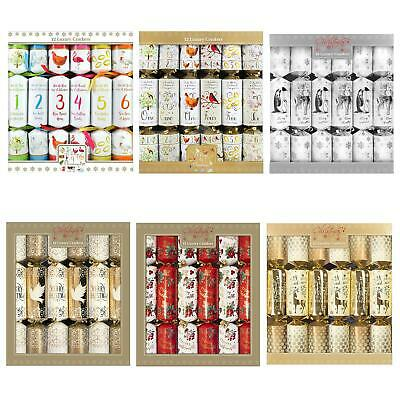 Christmas - Pack of 12 Luxury Crackers - 34cm - Choose Design