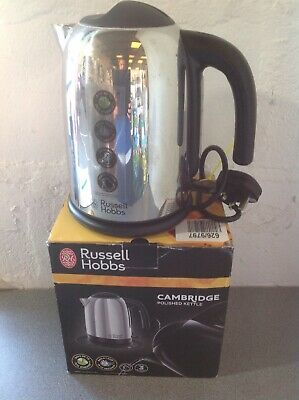 Russell Hobbs Cambridge Polished Kettle  Fully Working With Box