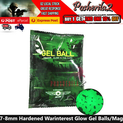 7-8mm Gel Balls HARDENED Luminous Glow Magazine WARINTEREST Gel Blaster 7mm-8mm
