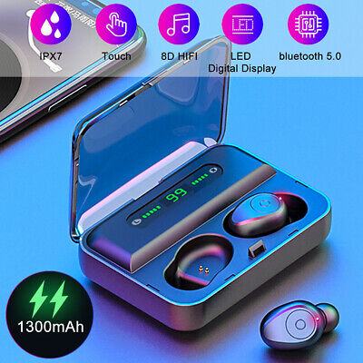 UK Wireless TWS Bluetooth 5.0 Earbuds Headphone Waterproof Mini Sports Earphones