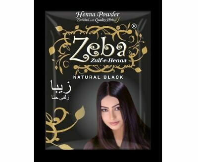 10 X INDIAN Henna Hina Based Black Hair Color Dye with ...