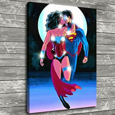 "12/""x20/""Wonder Woman Ink Art Home Decor HD Canvas Print Picture Wall Art Painting"