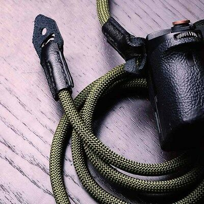 Strong Climbing Rope Leather Braided Camera Neck Shoulder Strap for Fuji X-T2 US