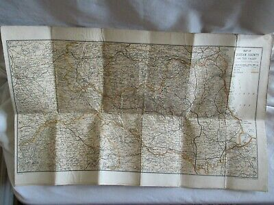 Vintage John Bartholomew Map Of Durham County And Tees Valley
