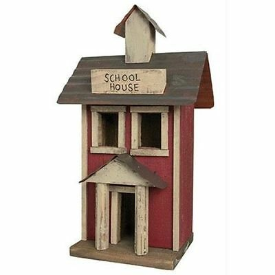 Primitive SCHOOL HOUSE Saltbox Country Farmhouse Rustic Wood Village Display