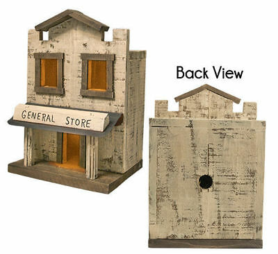 Primitive RUSTIC GENERAL STORE Saltbox Country Farmhouse Wood Village Display