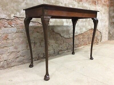 Vintage Queen Anne antique Style mahogany console / hall / Occasional Table