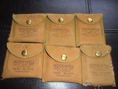 ***Lot*** 6 Wilson - Rockwell Hardness Test Blocks!! Mixed Scales!!