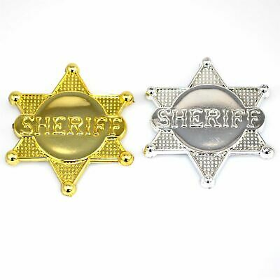 Gold Silver Sheriff Badge Toys County Police Badges Events Kids Party Supply