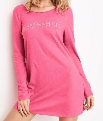389fed6013dc0 VICTORIA'S SECRET PINK Nightgown Sleep Shirt Pajama Holiday Long ...