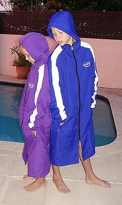 Swim Parka Wazsup Purple Size XS (pool deck coat, swim jacket, beach robe)